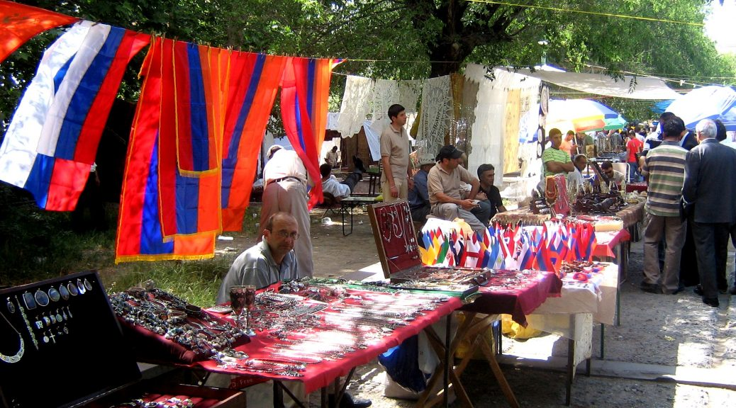 Vernisage markets held every weekend in Yerevan.