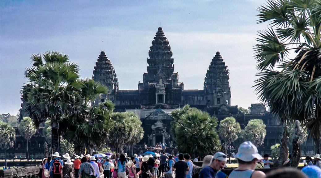 Tourists Visiting Angkor Wat, Cambodia