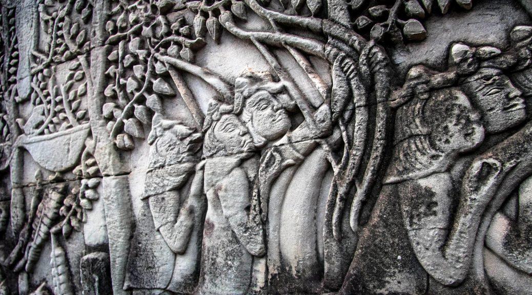 Stone Etchings Revealing Khmer History, Cambodia