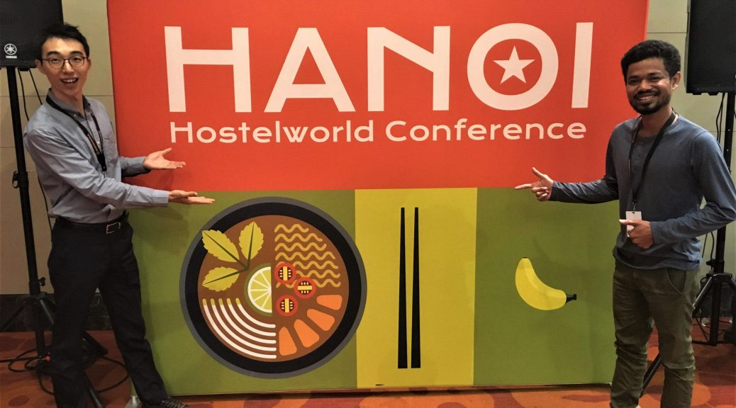 Chamnab and Matthew from Envoy at the Hostelworld APAC Conference Hanoi