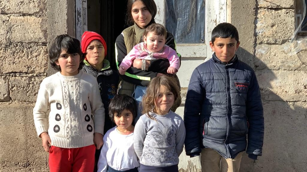 Visiting the family of 9 in Meghratzor